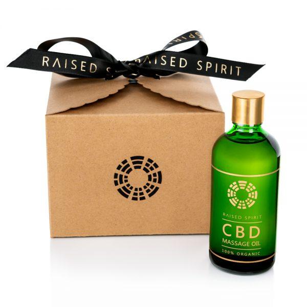Organic CBD Massage Oil with box